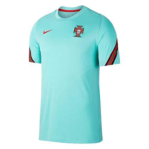 Nike 2020-2021 Portugal Training Football Soccer T-Shirt Jersey (Mint)