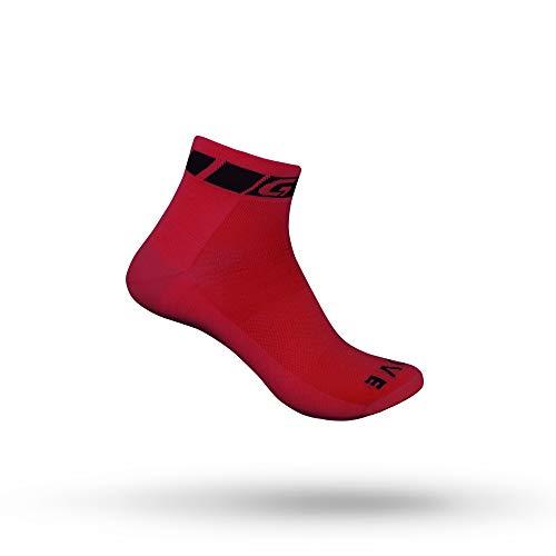 GripGrab Classic Low Cut Socken - Kurze Sommer Fahrradsocken, Rot 1 Paar, M (41-44), 1 Paar