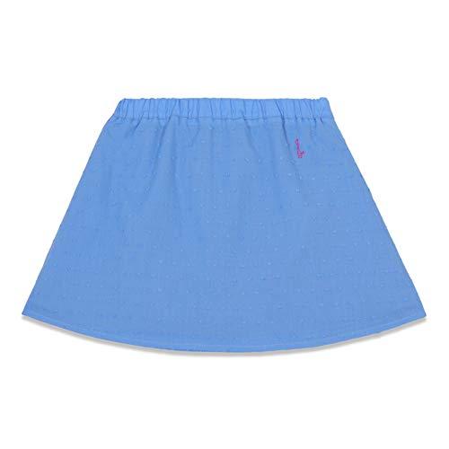 KATU Kids Made in Italy Gonna di Cotone Plumetis Azzurro (7 Anni IT Bambina)