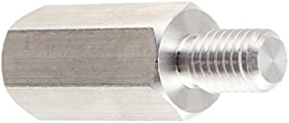 Pack of 10 Female Hex Standoff 0.125 OD Stainless Steel #2-56 Screw Size 0.187 Length,