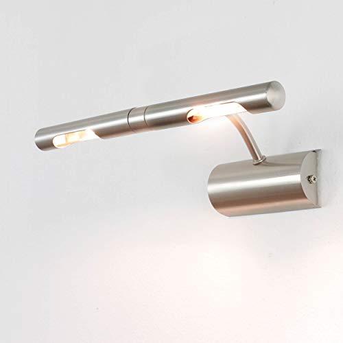 Elegante Bilderlampe Chrom matt 2-flmg G9 drehbar L:30cm Bilder Spiegel Leuchte Wohnzimmer Lampe