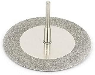 Revesun 10 Pcs Diamond Coated Cutting Wheels Discs Drill Bit For Rotary Tool Dremel Stone Blade 60mm