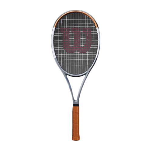 Tennisschläger Profi-Carbon-Faser-Schläger Single Shot Hellgrau-gewindelosen Tennisschläger (Color : Light Gray)