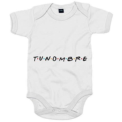 Body bebé para fan de Friends personalizable con nombre - Blanco, 12-18 meses