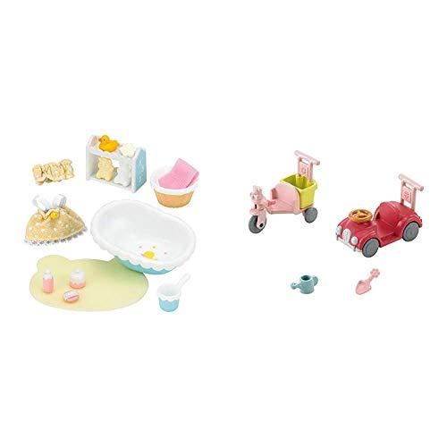 シルバニアファミリー 家具 ベビーバスセット カ-210 & シルバニアファミリー 家具 三輪車・くるまセット カ-216【セット買い】