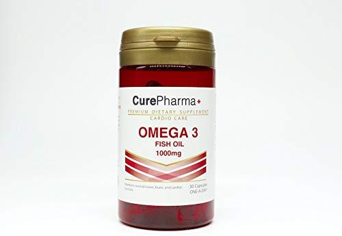 CurePharma Omega 3 Fish Oil 1000mg | 30 Capsules | Halal | Kosher
