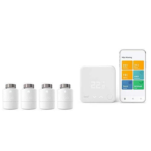 tado° Smartes Heizkörper-Thermostat - Quattro Pack, Zusatzprodukte für Einzelraumsteuerung & Smartes Thermostat (Verkabelt) Starter Kit V3+ - Intelligente Heizungssteuerung