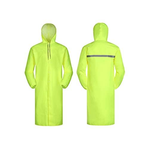 Reflectantes Traje reflectante de tela de oxford, chaqueta de seguridad amarilla fluorescente con capucha impermeable reflectante reflectante alto visibilidad monos Visibilidad ( tamaño : 3X-large )