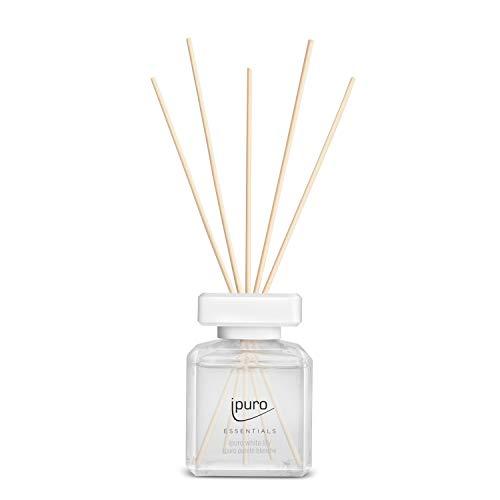 ipuro Essentials Raumduft white lily 200ml – hochwertiger Lufterfrischer - Raumduft-Set für ein blumig-zartes Raumklima – umweltfreundliches Design