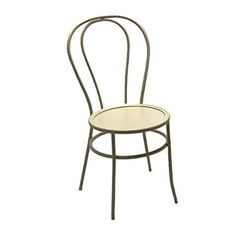 ADDECOR - Silla de Diseño Thonet - Fabricada en Hierro Acerado Medidas 85 × 54 × 42 cm - Color Blanco - Silla Vintage - Ideal para Ambientes Tipo Loft - Muebles Auxiliares