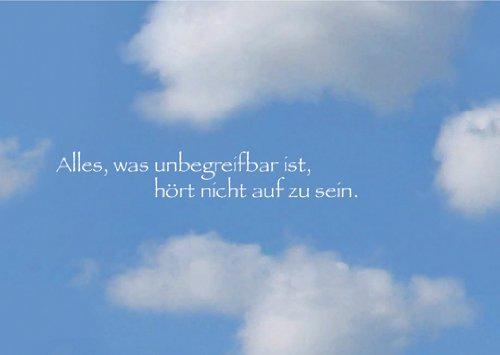 5er Set Beileids/Trauer Klappkarten mit Wolken Motiv und Trost Spruch • Beileidskarte Kondolenzkarte Trauer Beileid Grußkarte im Todesfall für Hinterbliebene