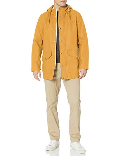 Mens Rubberized Rain Yellow Parka Jacket