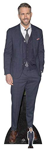 Beroemdheid Standee Ryan Reynolds Smart Casual pak uitgesneden, meerkleurig