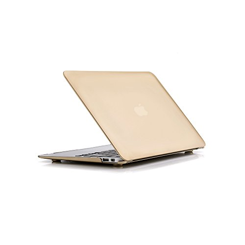 RUBAN Case Compatible with MacBook Air 13 Inch (Models: A1369 & A1466, Older Version 2010-2017 Release), Slim Snap On Hard Shell Protective Cover,Gold
