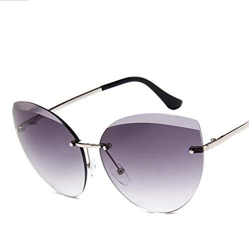 chuanglanja Gafas De Sol Vogue Mujer Gafas De Sol De Ojo De Gato Sin Montura De Metal Para Mujer Gafas De Sol Clásicas Con Lente Oceánica Gafas De Sol Para Mujer UV400-Color-E