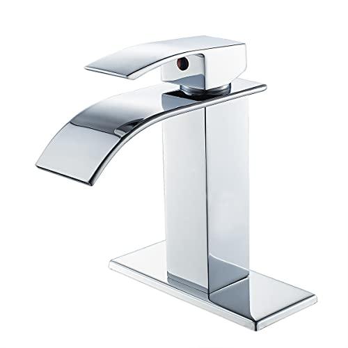 VOTON Bathroom Faucet Chrome Faucet for Bathroom Sink Single Handle...