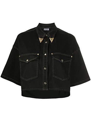 Luxury Fashion | Versace Jeans Dames B0HVA60I899 Zwart Katoen Jassen | Lente-zomer 20