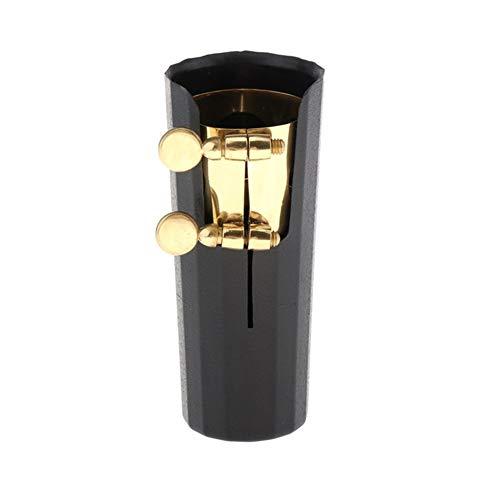 XIAOFANG Mundstück aus Kunststoff Kappen und Kupfer Ligatures Fit for Tenor Sax Saxophon Saxophon Parts (Tenor) (Color : Gold Plated)