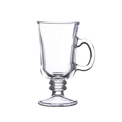 MeiShiLang Irish Coffee Glas, Latte Macchiato Glas, Tasse mit heißer Schokolade und Henkel