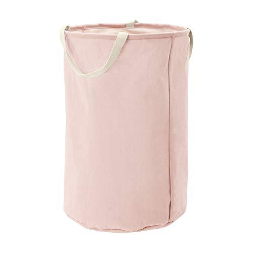 AmazonBasics – Canasto de tela, alto, redondo, rosa apagado