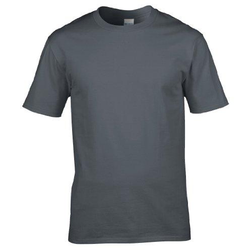 Gildan Premium T-Shirt für Männer (M) (Kohlegrau) M,Kohlegrau