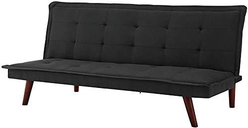 FEANG Sofá Moderno 2/3 Personas sofá Cama Tela sofá Banco Maquillaje Cama salón sofá Dormitorio,Black