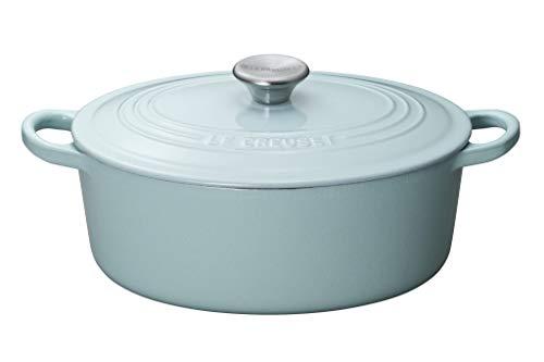 ル・クルーゼ 両手鍋 サテンブルー 25cm ホーロー鍋、IH対応