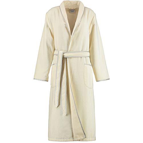 Michaelax-Fashion-Trade Cawö - Damen Velours Bademantel mit Schalkragen (4320), Größe:38, Farbe:Vanille (356)