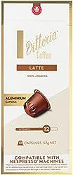 Vittoria Latte Coffee Capsules / Pods | Nespresso machine Compatible | Arabica Coffe, Vittoria Latte