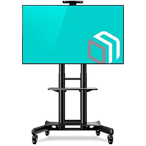 ONKRON Supporto per TV da Pavimento per Schermi 40  a 70  Pollici LCD LED Plasma - CARRELLO TV STAND PORTA MOBILE CON CARICO FINO 45.5 kg - VESA 100 x 100-600 x 400 mm TS1551