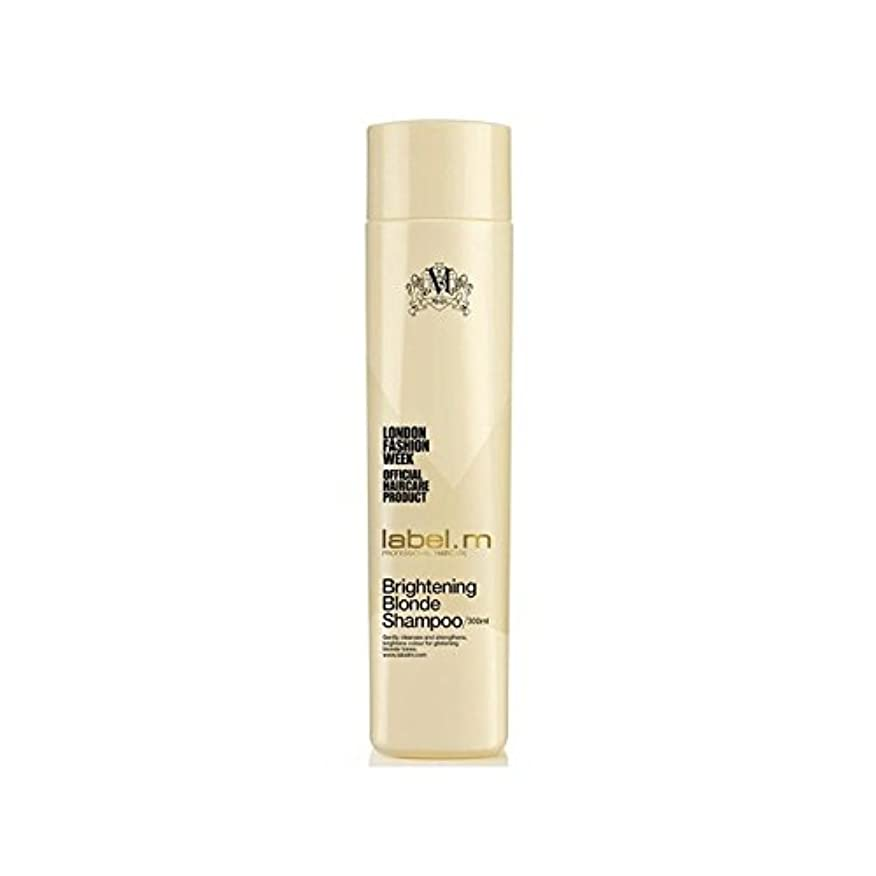 縁手紙を書くチョーク.明るくブロンドシャンプー(300ミリリットル) x4 - Label.M Brightening Blonde Shampoo (300ml) (Pack of 4) [並行輸入品]