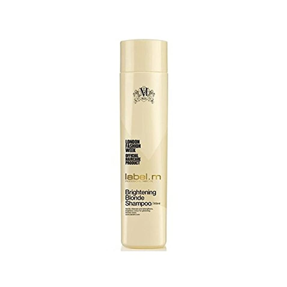 脱走健全堤防.明るくブロンドシャンプー(300ミリリットル) x4 - Label.M Brightening Blonde Shampoo (300ml) (Pack of 4) [並行輸入品]