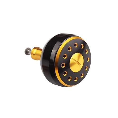 ScottDecor 1 pomo de metal mecanizado para carrete de pesca de hielo, 1 unidad, para carrete de pesca de anzuelo, accesorio de engranaje de pesca daiwa (cantidad de rodamiento: 2, color: 38 mm)