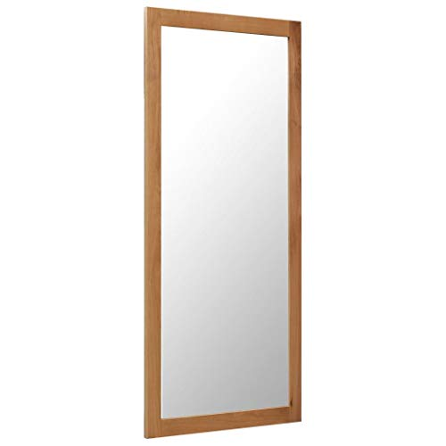vidaXL Eichenholz Massiv Spiegel Vintage Retro Wandspiegel Badspiegel Flurspiegel Kosmetikspiegel Badezimmerspiegel Garderobenspiegel Deko 50x140cm