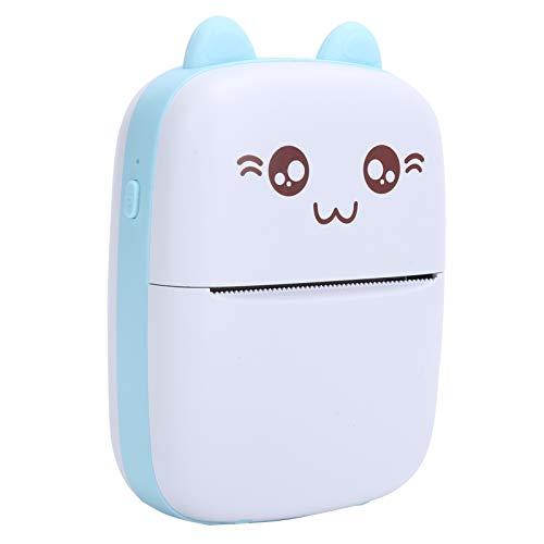 Dilwe Mini Impresora Térmica Inalámbrica para Bluetooth para Teléfonos, 200DPI Impresora Térmica Portátil Práctica para Múltilples Propósitos, Linda Imprsora Azul para Niños, Regalo para Amiga
