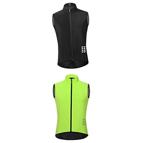 Generic 2pcs Veste de Sécurité Moto Ultraléger Respirant,Veste sans Manches de Vélo Coupe-Vent avec Haute Visibilité- Taille XXXL