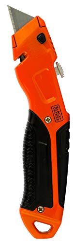 Black + Decker Metal Retractable Utility Knife (Orange)