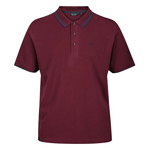 Regatta Talcott II Piqué-Poloshirt aus Baumwolle und Kragen mit Knöpfen T-Shirts/Polos/Vests, Herren, Port Royale, M