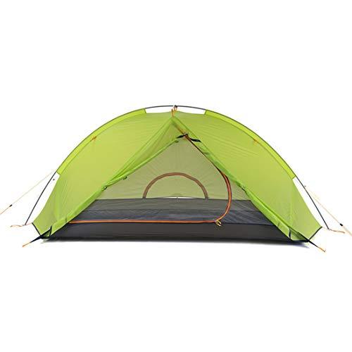 LUHUIYUAN Einmastzelt Outdoor 2 Personen Ultraleicht Einzelnes Doppelzelt Wildes Zelt Anti-Sturm,greendouble