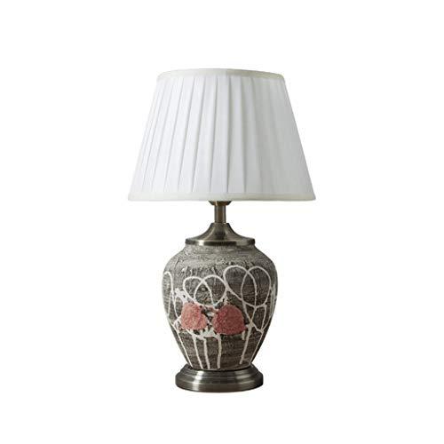 CKH Do oud gekleurde tekening keramiek bureaulamp Chinese stijl eenvoudige woonkamer werkkamer verlichting tafellamp doek lampenkap
