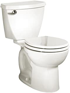 American Standard Cadet 3 Round Front Flowise Two-Piece High Efficiency Toilet with 12-Inch Rough-In, White White