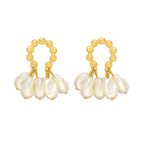 Pendiente, Moda Pendientes de Perla Temperamento Personalidad Versátil Pendientes Colgante Elegante Joyería Para Las Mujeres
