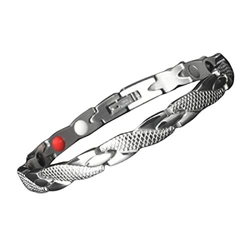 Shubiao - Braccialetto elegante per terapia magnetica, per la perdita di peso, per migliorare la circolazione sanguigna, idea regalo, adatto per uomini e donne