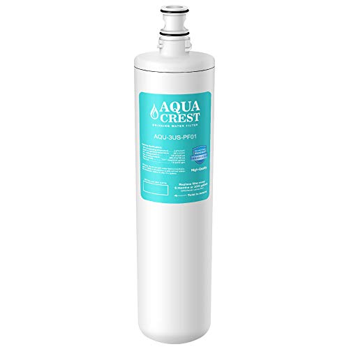 AQUA CREST 3US-PF01 Under Sink Water Filter, Replacement for Filtrete Advanced 3US-PF01, 3US-MAX-F01H, 3US-PF01H, Delta RP78702, Manitowoc K-00337, K-00338 Water Filter