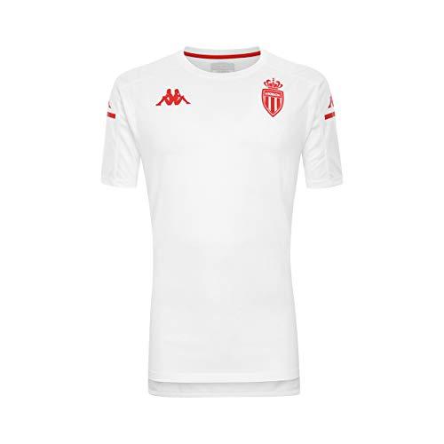 Kappa ABOES PRO 4 AS Mónaco Camiseta Unisex Niños Blanco/Rojo
