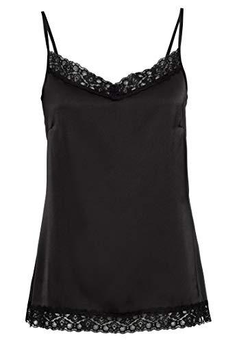 HALLHUBER Camisole aus Satin gerade geschnitten schwarz, 36