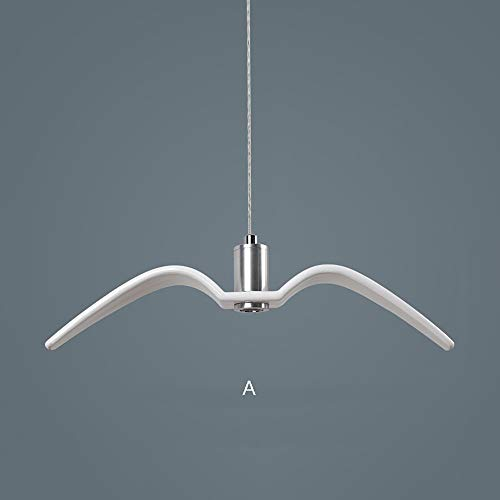 YXDEW Seagull Chandelier Postmodern Simple Resin Ceiling Lamp Bar Restaurant Restaurant Apparel Shop Single Iron Rope Pendant Lamp restaurant (Color : White, Size : C)