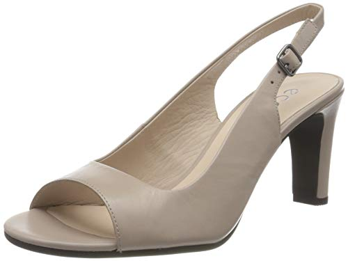 Ecco Damen ELEVATE75SLEEKSANDAL Peeptoe Pumps, Beige (Grey Rose 1386), 38 EU