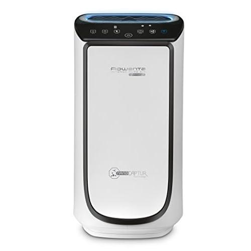 Rowenta PU4080 Intense Pure Air Connect, Purificatore D'Aria con 4 Livelli di Filtraggio, Filtra fino al 100% di Allergeni e Particelle Sottili, Connesso All'App, Silenzioso