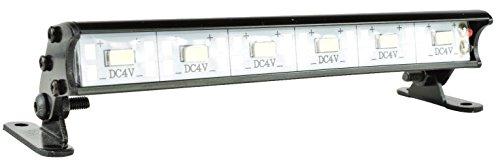Apex RC Prodcuts 6 LED 105mm Aluminum Light Bar Compatible with The Traxxas Bigfoot, T-Maxx, Summit, Revo, Arrma Outcast, Nero, ECX 1/12 Barrage, Ruckus & More #9043